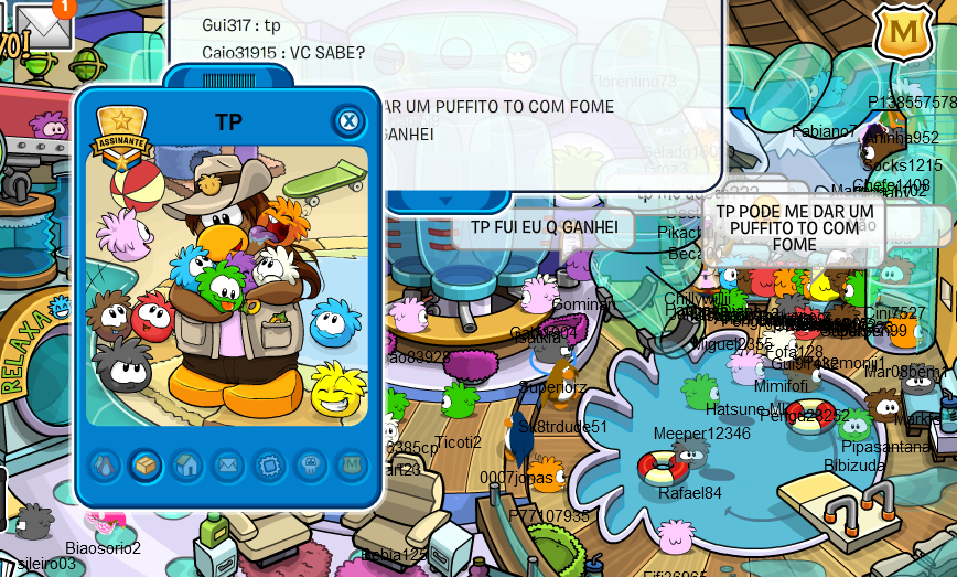 Penguins!!, Today, I met Puffle Handler (PH). The new mascot of Club